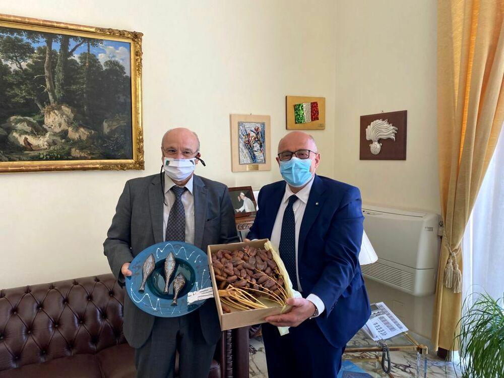 Algeria-Salerno, il Prefetto Russo incontra l'ambasciatore Boutache
