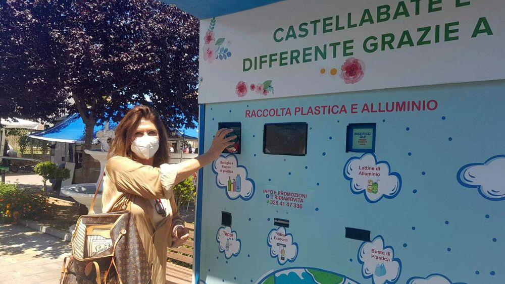 """Castellabate, inaugurati tre """"eco point"""" per la raccolta di plastica e lattine"""