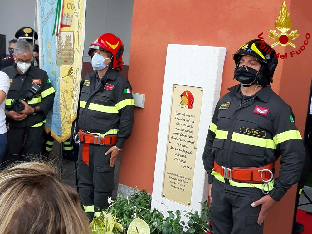 Sala Consilina, la caserma dei vigili del fuoco intitolata a Luigi Morello