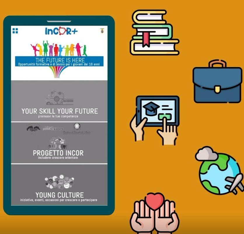Lavoro, formazione, volontariato e tanto altro: arriva l'app InCOR+