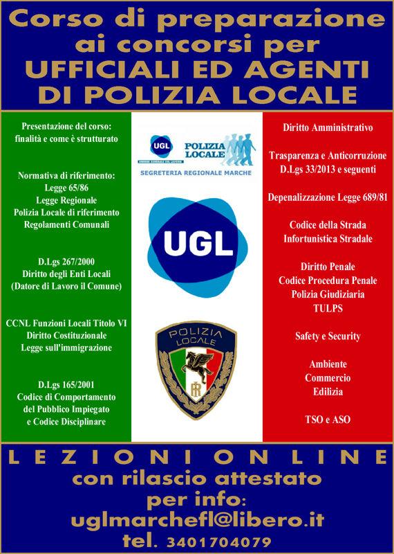 Polizia Locale: il corso dell'Ugl per prepararsi ai concorsi per agenti ed ufficiali