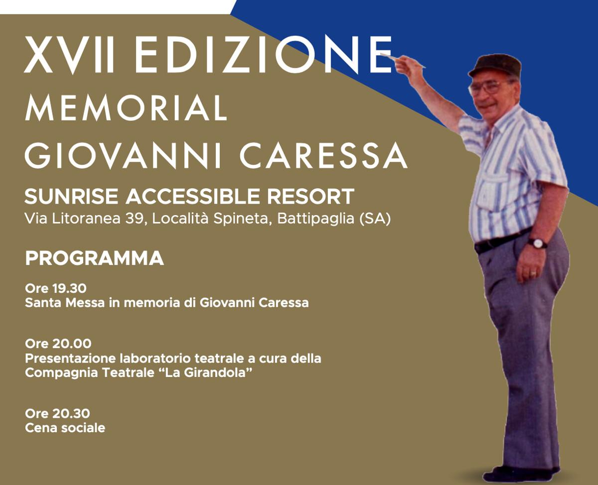 E' tutto pronto a Salerno per la XVII edizione del Memorial Giovanni Caressa