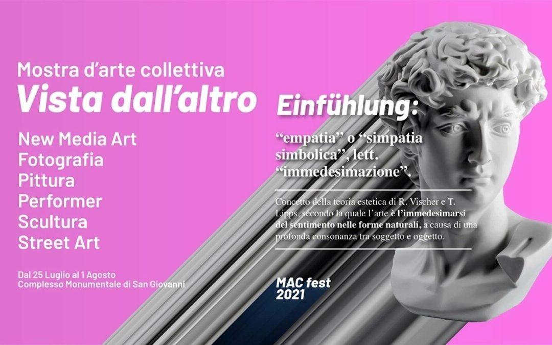"""Mostra d'arte collettiva """"Vista dall'altro"""" dal 25 luglio al 1 agosto a Cava"""