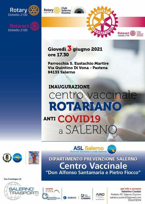 Parrocchia S. Eustachio Martire: nasce l'hub vaccinale rotariano anti-Covid-19
