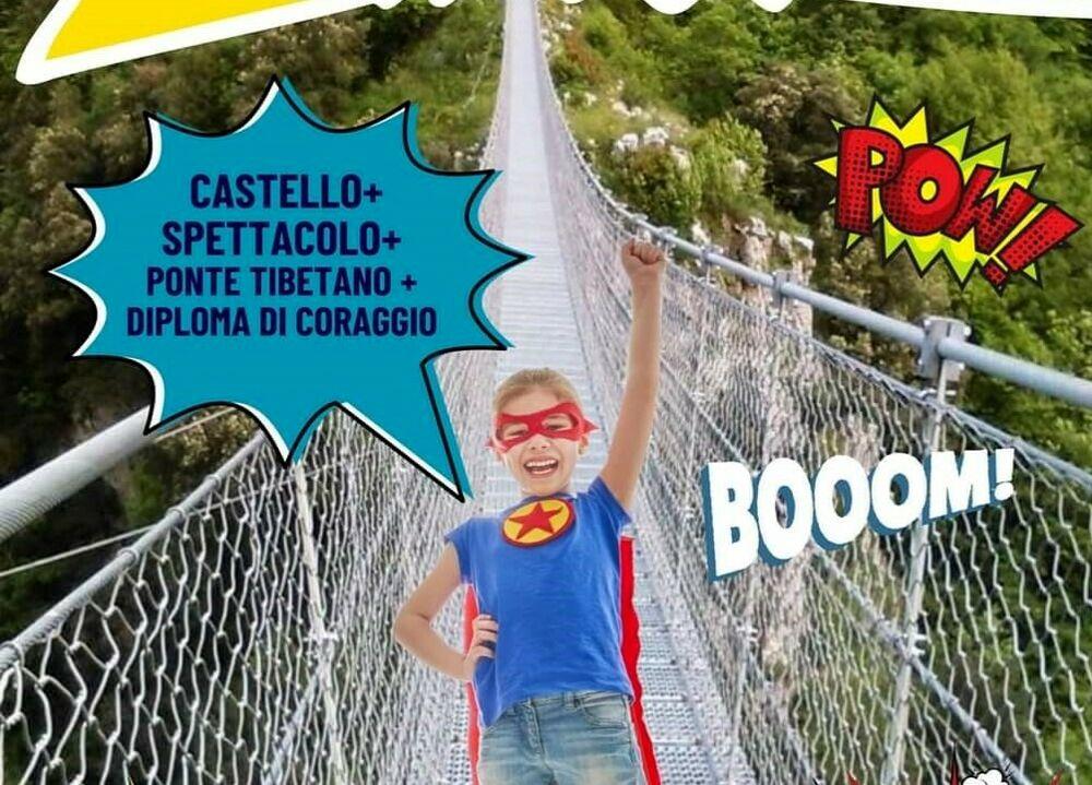 Il ponte tibetano e le favole: superboy e supergirl sono invitati a Laviano