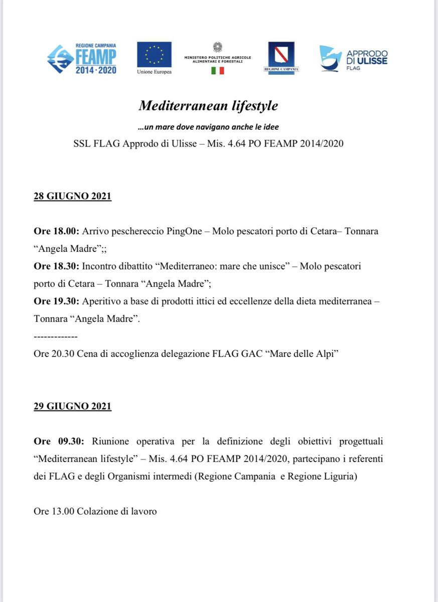 Mediterranean Lifestyle: a Cetara il primo incontro del progetto