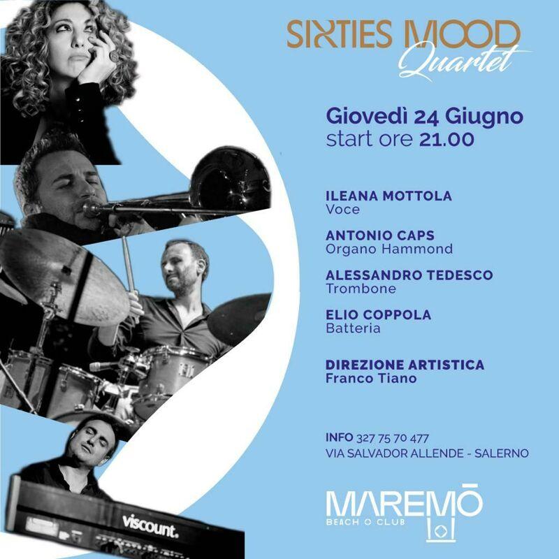 """Salerno: una serata all'insegna del soul con i """"Sixties Mood"""""""
