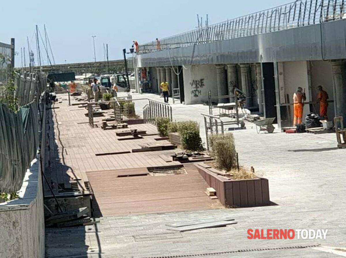 Piazza della Libertà, proseguono i lavori tra il sottopiazza e il Molo Manfredi