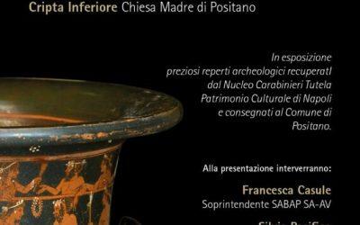 Cripta in Mostra: a Positano un'esposizione di reperti ceramici sottratti al mercato nero