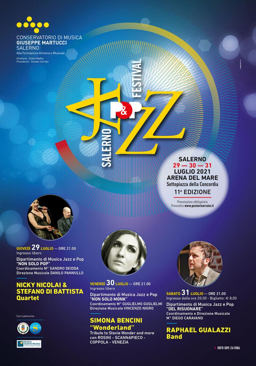 Salerno jazz&pop festival XI edizione  29-30-31 luglio 2021
