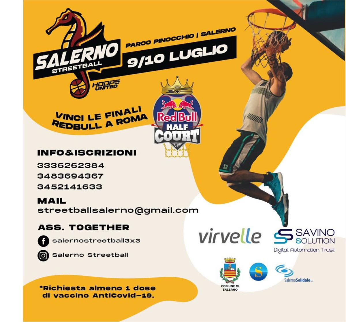 Parco Pinocchio, il 9/10 luglio ritorna il basket di strada a Salerno