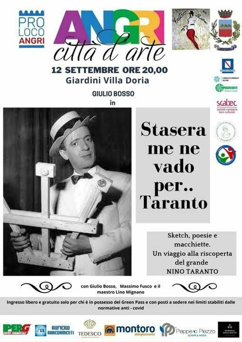 """Angri Città d'Arte, ecco """"Cafè Chantant"""": Omaggio a Nino Taranto """"Re della macchietta"""""""