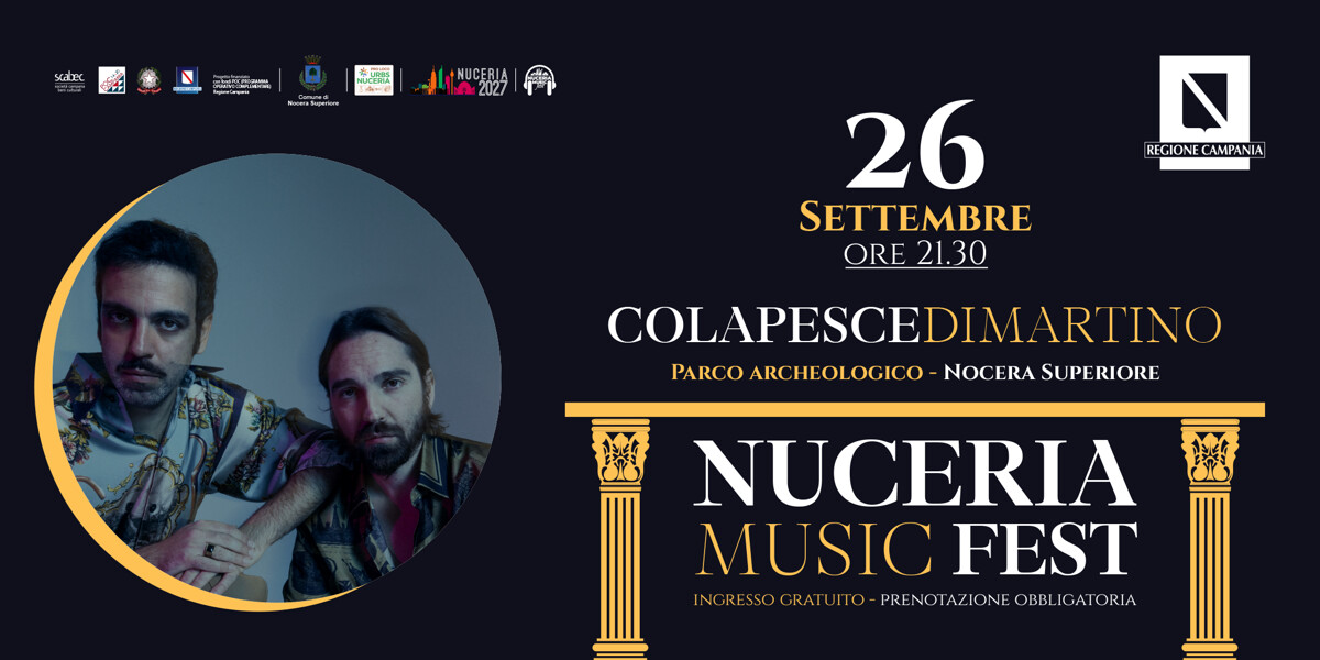 Colapesce e Di Martino in concerto a Nocera Superiore