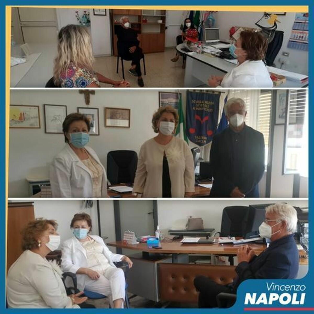 Ritorno a scuola, Napoli e Avossa incontrano i nuovi presidi a Salerno