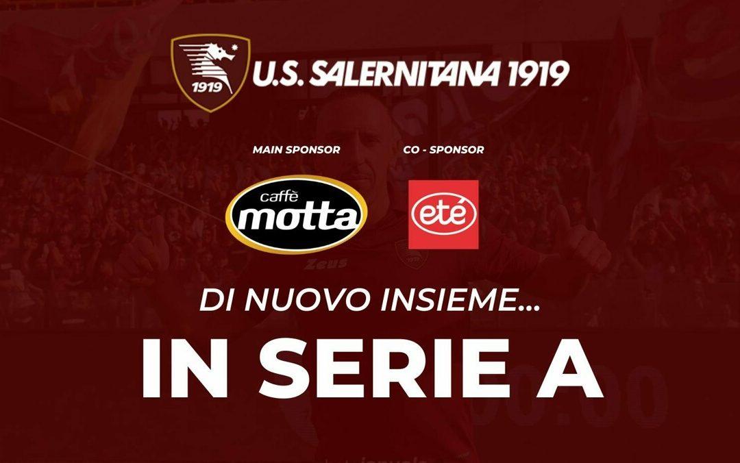 """Salernitana, c'è l'intesa con gli sponsor """"Caffè Motta"""" e """"Supermercati Eté"""""""