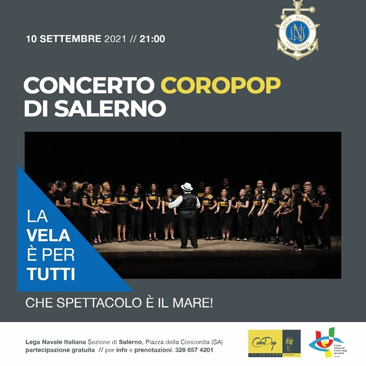Concerto Coropop di Salerno: l'appuntamento