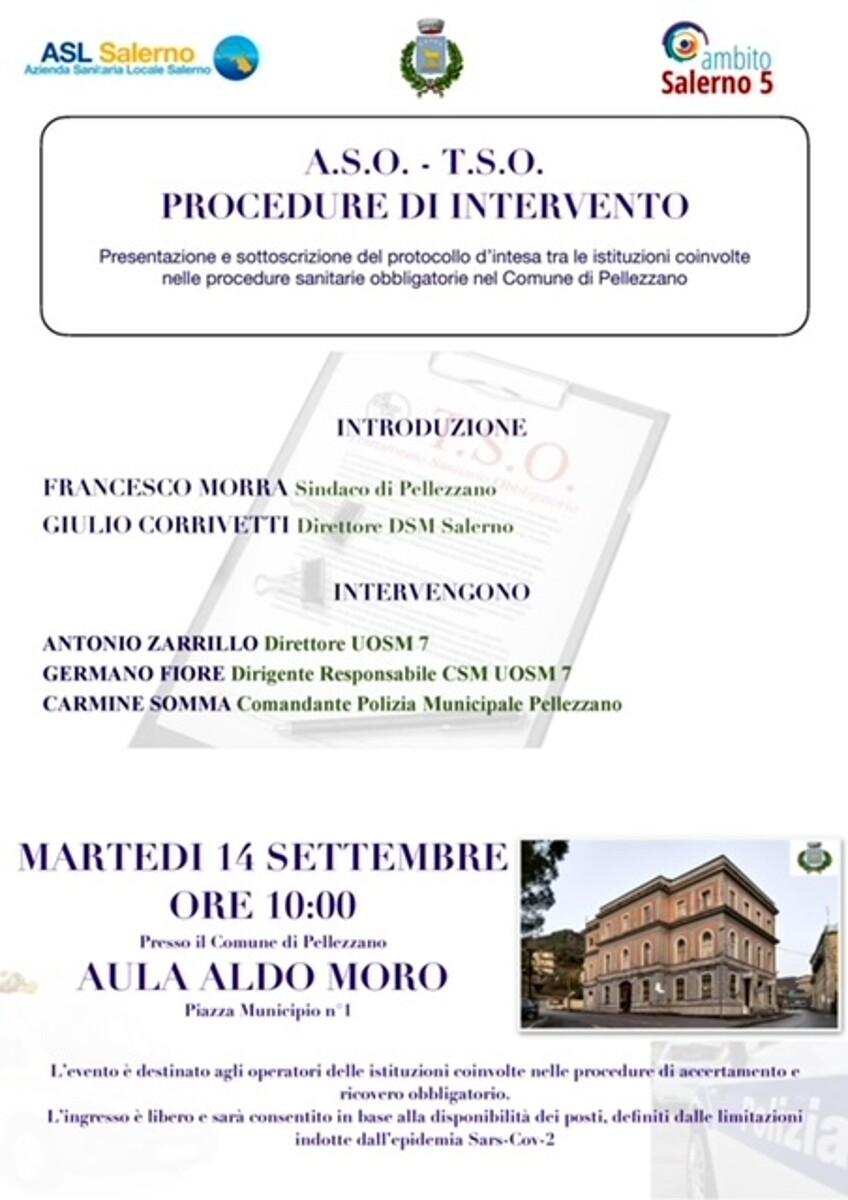 Procedure sanitarie obbligatorie: il protollo d'intesa tra Comune di Pellezzano ed Asl