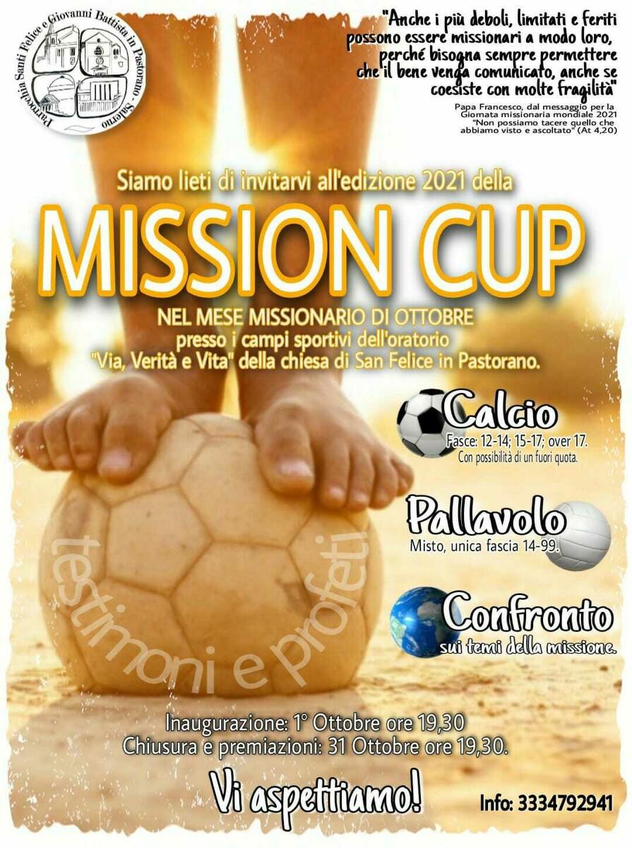 Torna la Mission Cup all'oratorio di Pastorano: ecco come iscriversi