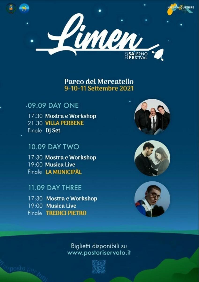 """""""Estate al Parco"""": al via, dal 9 all'11 settembre, la seconda edizione del """"Limen Salerno Festival"""""""
