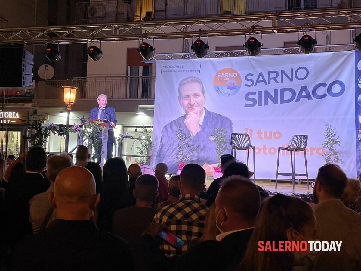 """Comizio di Michele Sarno a Pastena: """"Noi la vera alternativa, la zona orientale trascurata dall'attuale sindaco"""""""