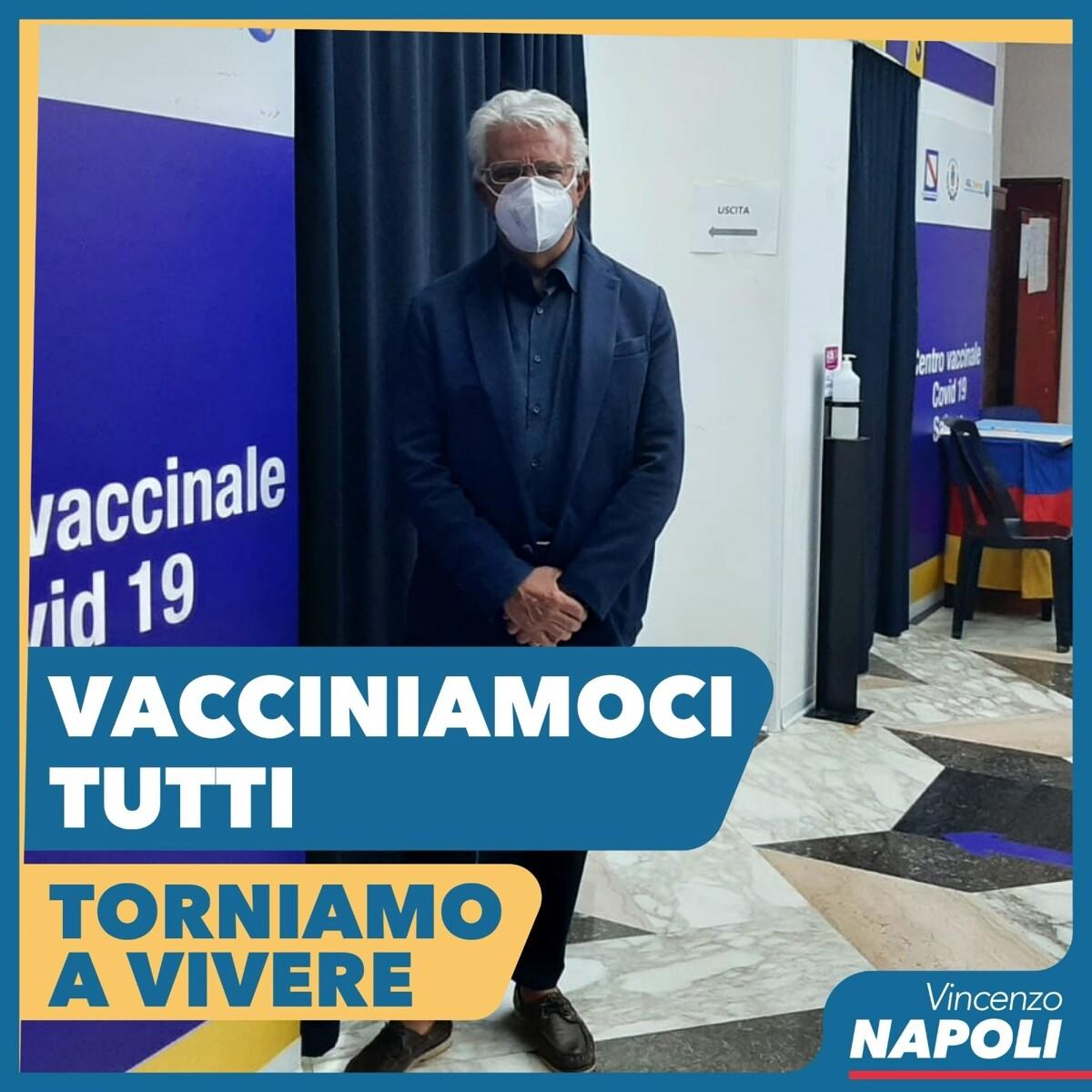 """Vaccini a Salerno città, il sindaco Napoli: """"Prima dose ricevuta dal 75% dei cittadini"""""""
