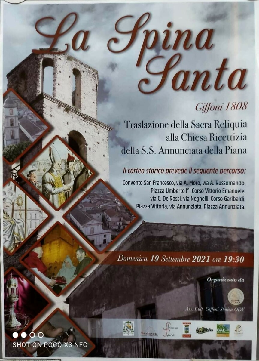 Fede e tradizione: è tutto pronto per la traslazione della Spina Santa a Giffoni