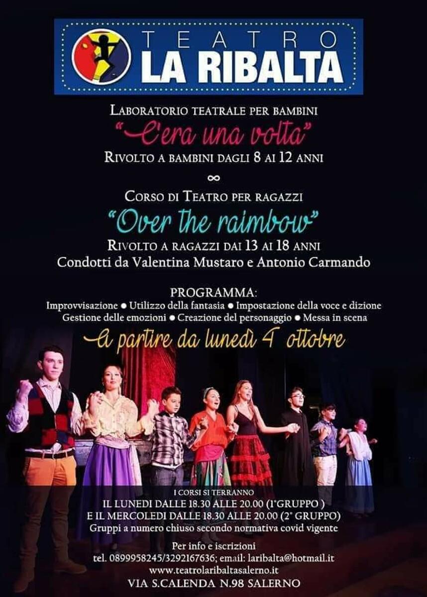 Recitazione e creazione del personaggio: il teatro La Ribalta organizza corsi a Salerno