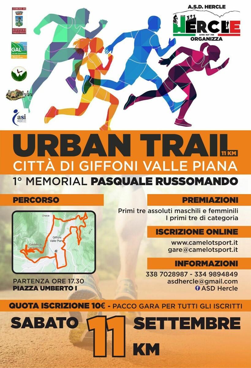"""""""Urban Trail"""": a Giffoni il primo memorial """"Pasquale Russomando"""""""