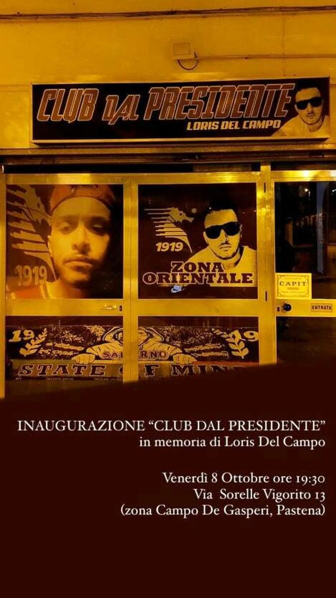 """Taglio del nastro per il Club """"Dal Presidente"""", in memoria di Loris del Campo"""