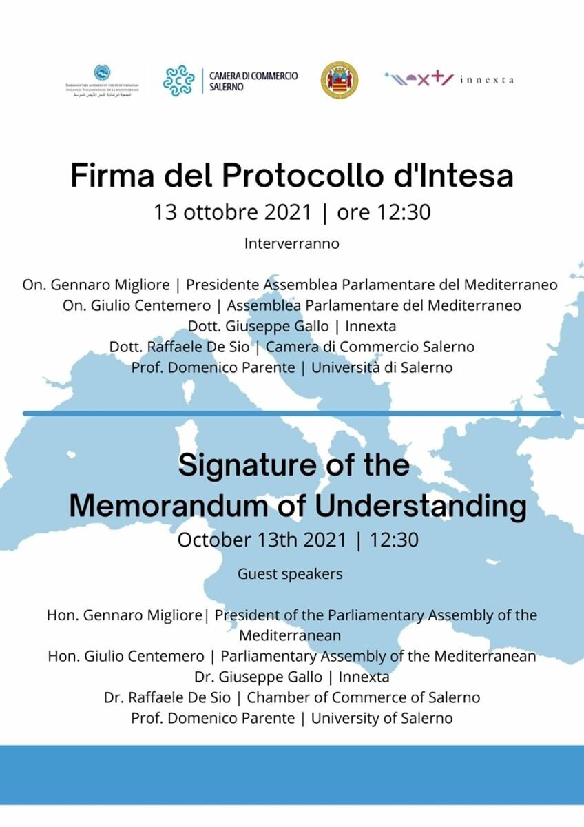 Salerno capitale del fintech del mediterraneo e del golfo: firmato il protocollo d'intesa